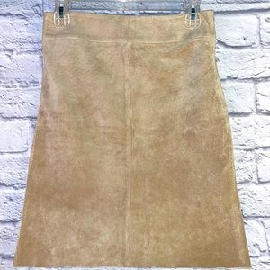 Express Soft Suede Leather Pencil Skirt